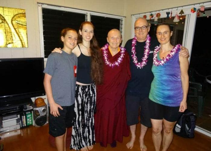 Ven. Karma Lekshe Tsomo with our family