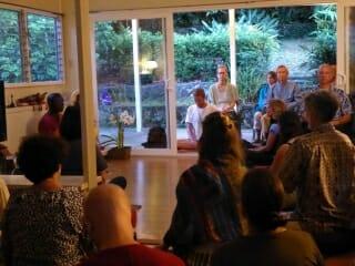 Ven Buddharakkhita leads meditation