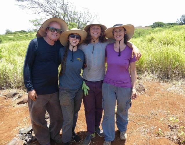 Fam doing restoration work on Kahoʻolawe Island Reserve